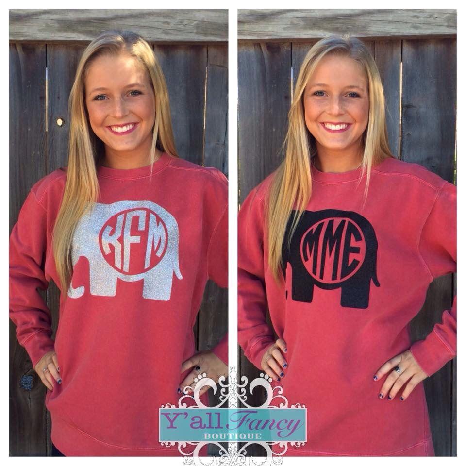 ffe2a6aa Alabama elephant. | Monogram | Alabama shirts, Alabama elephant ...