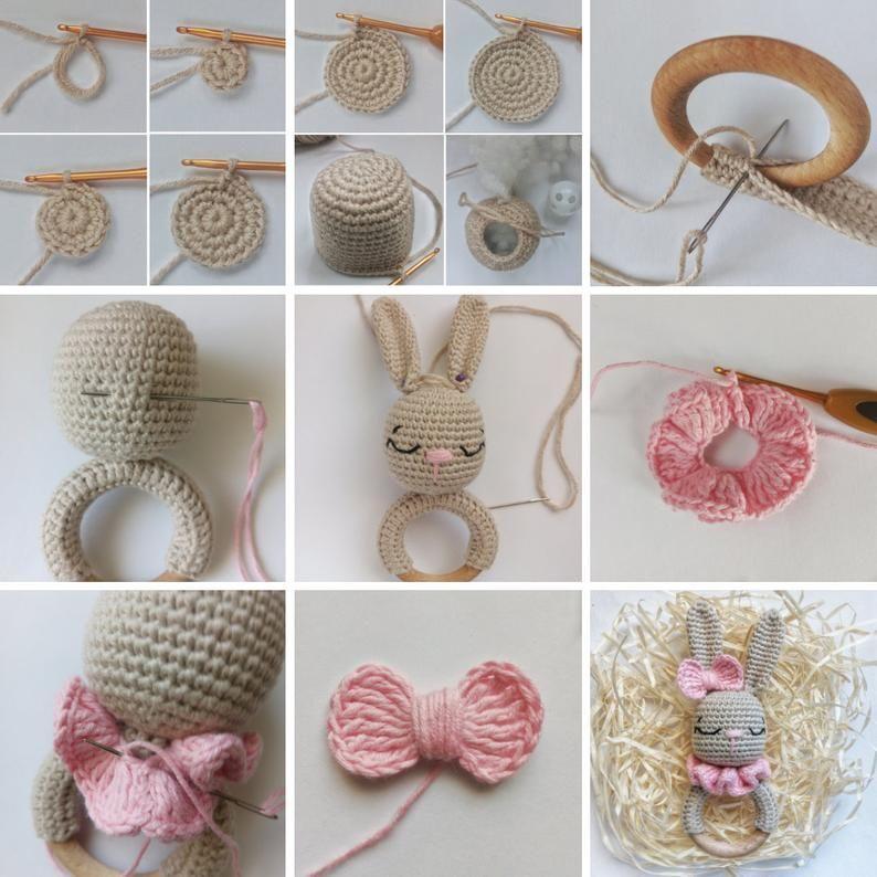 Pattern Crochet Rattle Bunny Sleepy Pattern Baby R