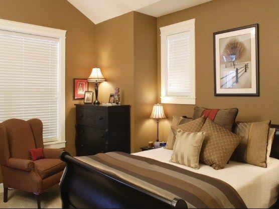 warna cat coklat kamar tidur sempit Wall paint Bed Room