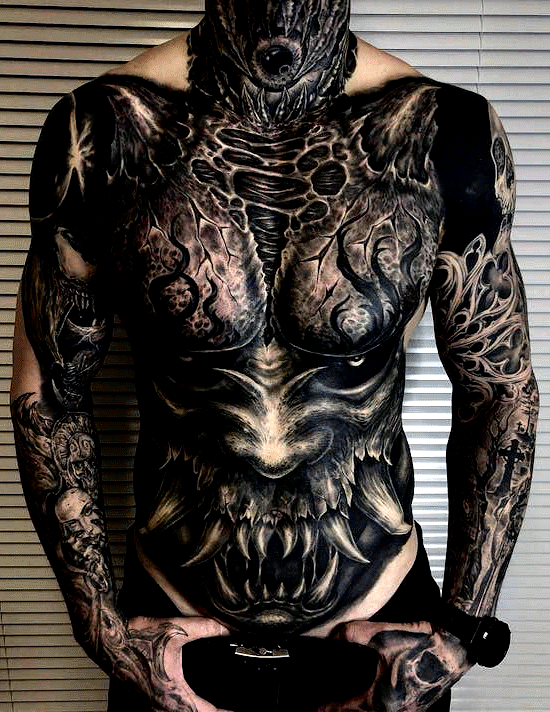 Badass Chest Tattoo Ideas For Guys Best Chest Tattoos For Men Cool Chest Tatt Badass Chest Tattoo In 2020 Body Suit Tattoo Chest Tattoo Men Cool Chest Tattoos