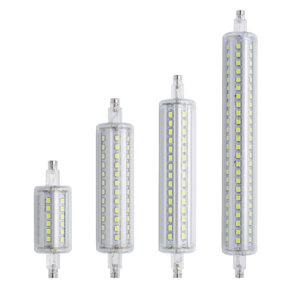 Lamparas Dimmable R7s Led Corn 78mm 118mm 135mm 189mm Light 2835 Smd Bulb 7w 14w 20w 25w Replace Halogen Lamp Bombillas Halogen Lamp Bulb Edison Lamp