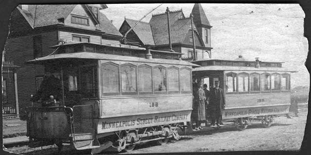 First Electric Street Car In Minneapolis Mn 1889 Minneapolis