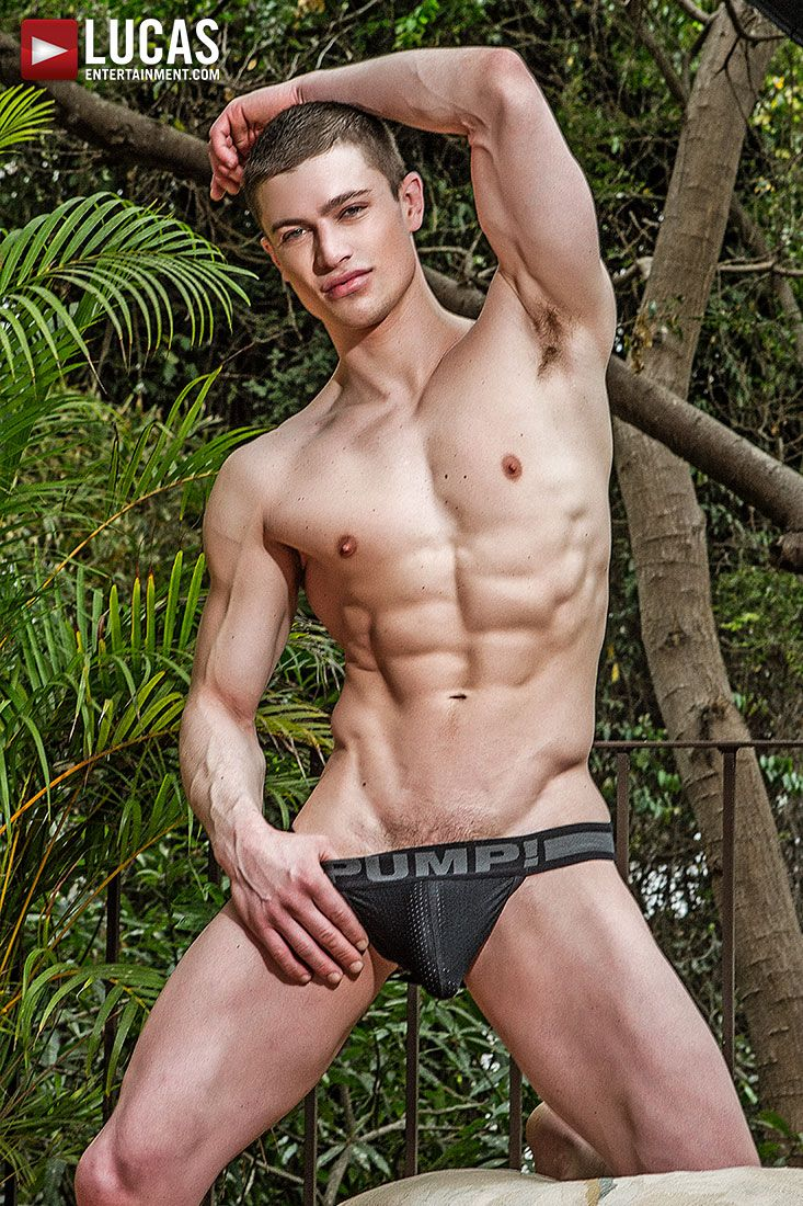 Jock type guy in his underwear