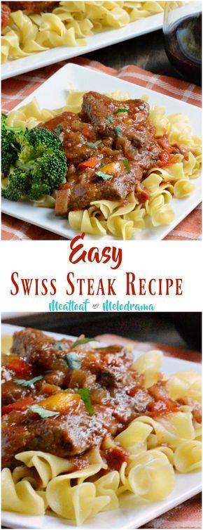 Easy Swiss Steak Recipe Swiss Steak Recipes Swiss Steak Beef Gravy