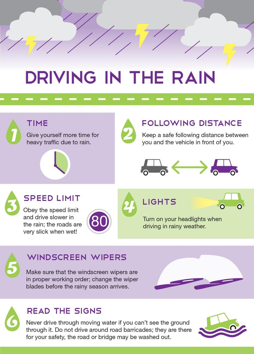 tips for driving in the rain by outsurance keep safe protects you and your car and don 39 t take. Black Bedroom Furniture Sets. Home Design Ideas