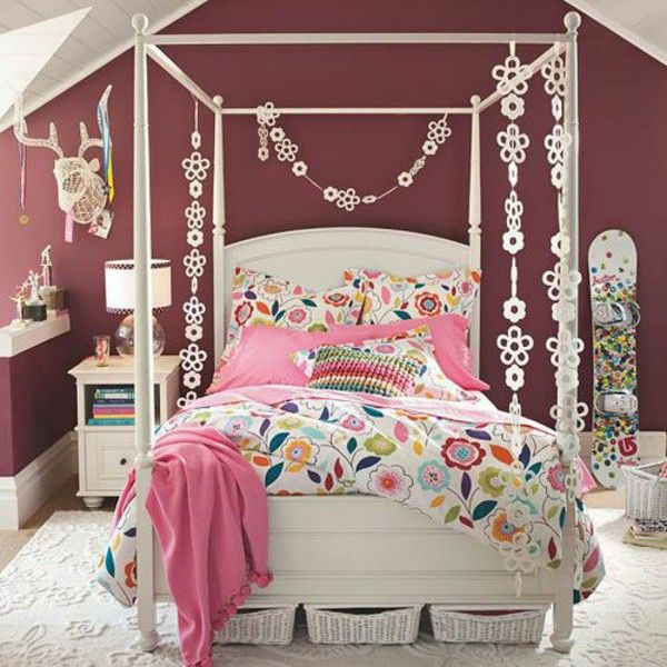 Youth Room Decor Gorgeous Bed Storage Table Lamp Books