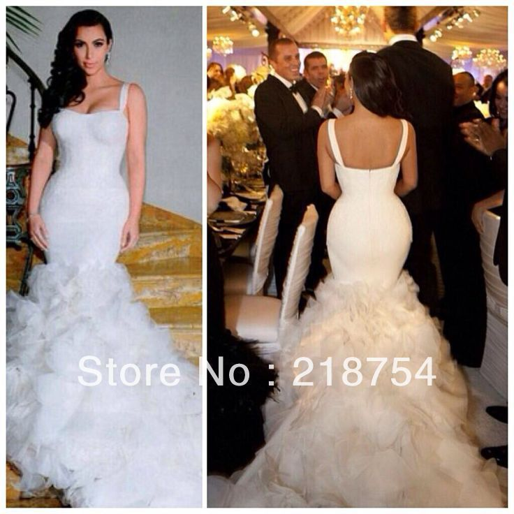 Mermaid Wedding Gowns With Long Tail Show Your Sexy And Nice Figure