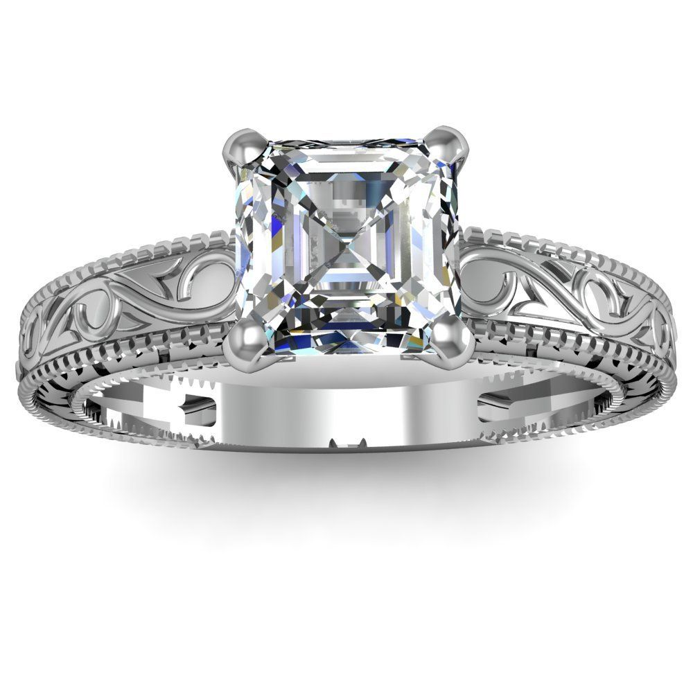 Cher Solitaire Diamond Engagement Ring I Love The Design On Metal