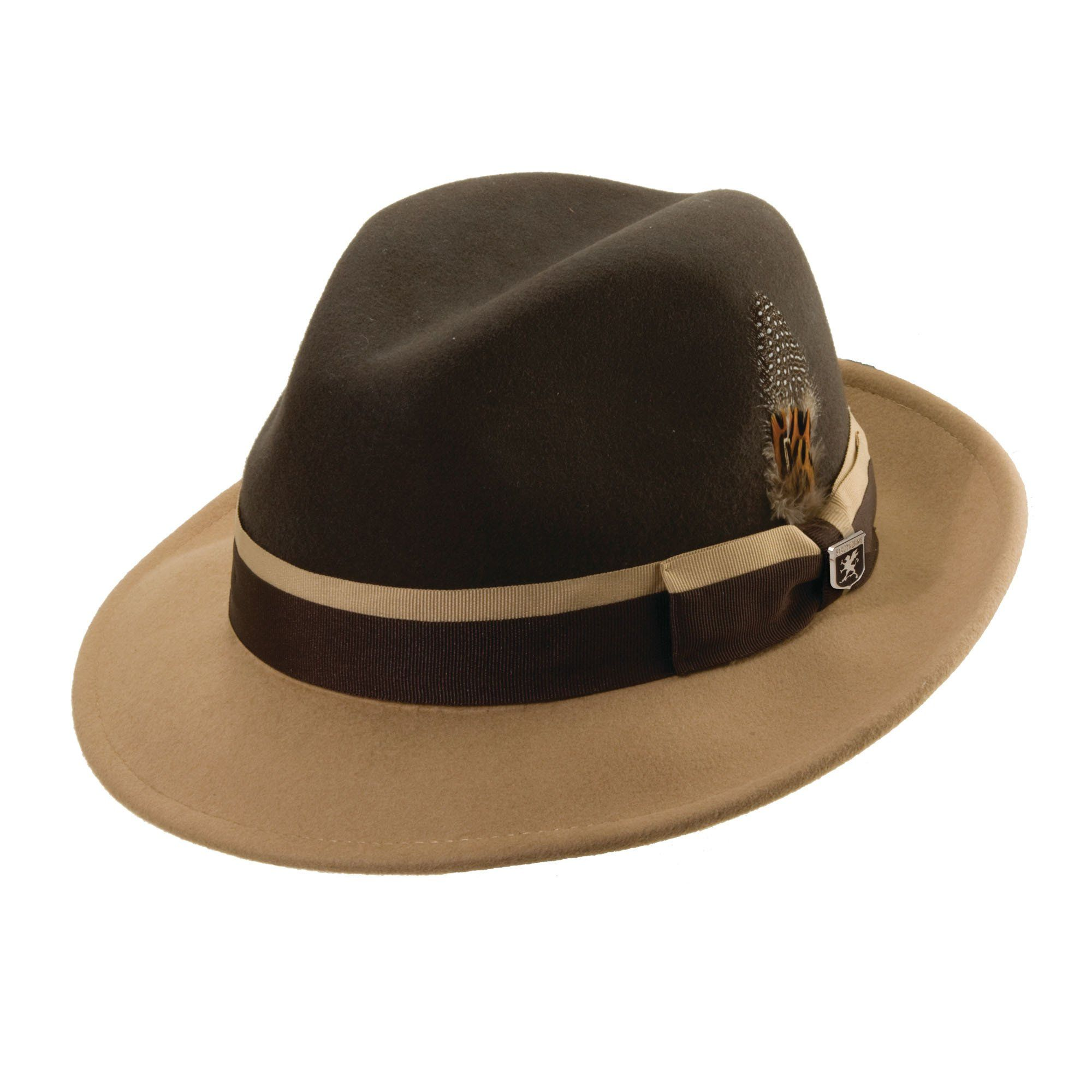 aff3e103c Stacy Adams Two Tone Fedora in 2019 | Products | Hats, Tan hat, Mens ...