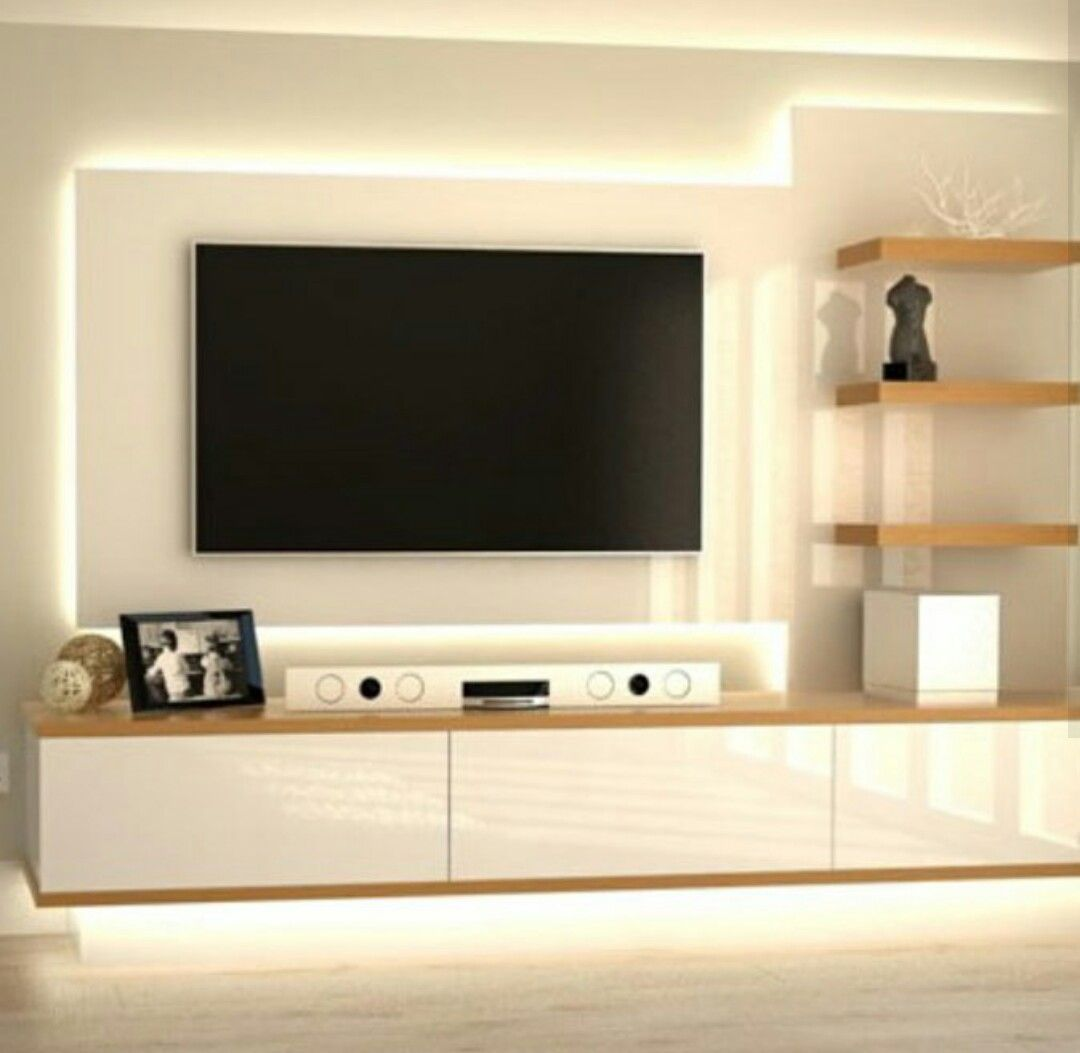Charming Wall Designs For Living Room Lcd Tv In 2020 Tv Unit