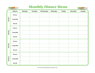 Weekly Menu Planner Template from i.pinimg.com