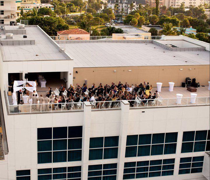 Aerial View Of One Of Our Sky Terrace Ceremonies Weddings At The Westin Beach Resort Fortlauderdale Beach Resorts Resort Spa Westin