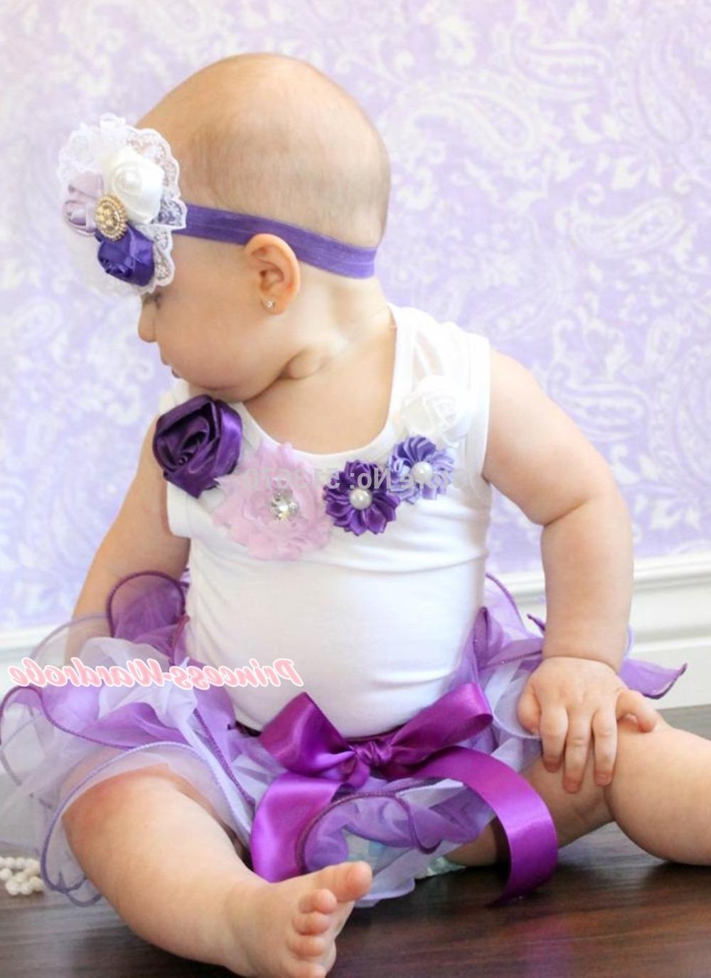 32.99$  Buy now - https://alitems.com/g/1e8d114494b01f4c715516525dc3e8/?i=5&ulp=https%3A%2F%2Fwww.aliexpress.com%2Fitem%2FBaby-Girl-Pearl-Flower-White-Top-Purple-Lavender-Petal-Pettiskirt-Set-NB-8Y-MAMG620%2F2018041953.html - Baby Girl Pearl Flower White Top Purple Lavender Petal Pettiskirt Set NB-8Y MAMG620 32.99$