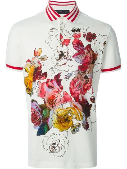 a219db71f0c911 Etro floral polo shirt .