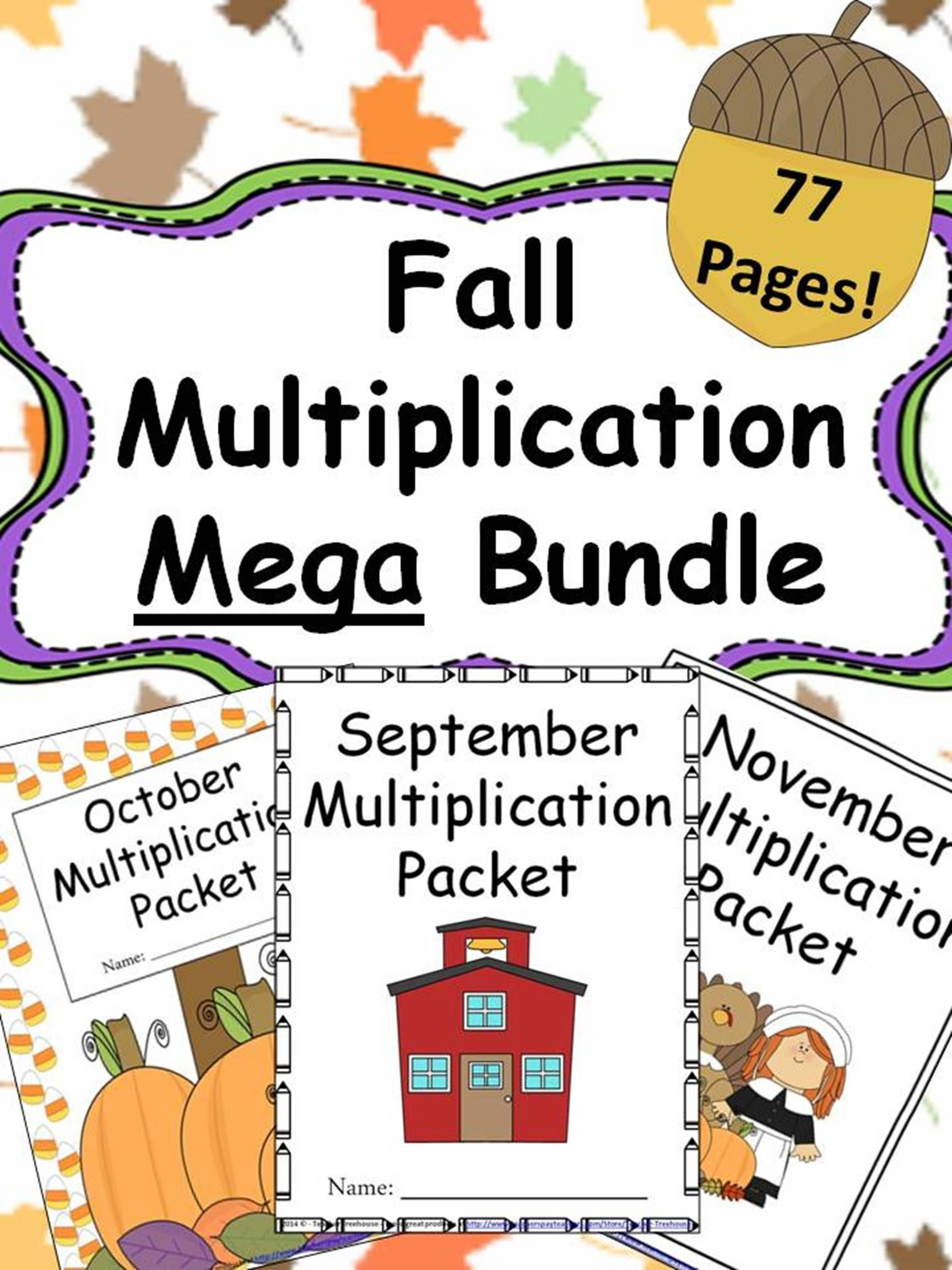 Fall Multiplication Packets Bundle