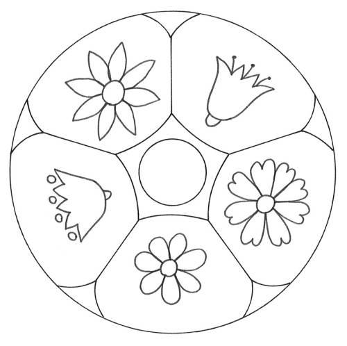 malvorlagen für blumenmandala kostenlose malvorlage