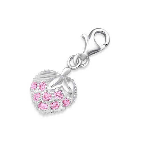 Heart Lobster Charm in 925 Stamped Sterling Silver with