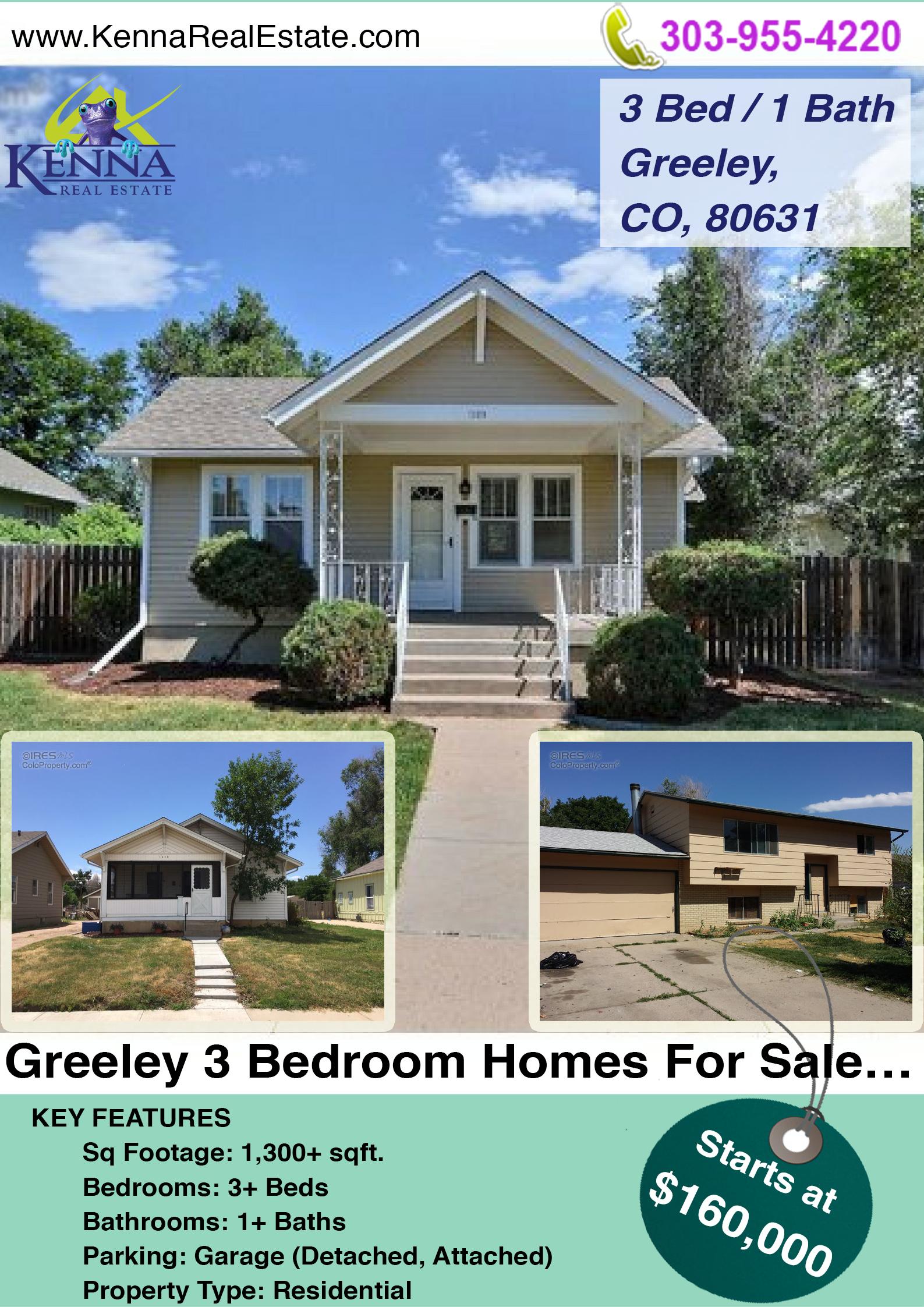 Greeley 3 Bedroom Homes For Sale... www.kennarealestate