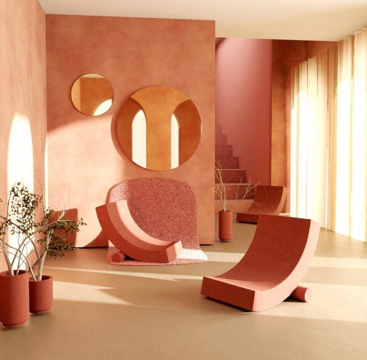 Pin By Ok Fern On Interiors Modernist Interior Luxury Living Room Design Coral Interior