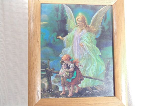 Guardian Angel Watches Over Two Children by SandiesGiftCorner ...