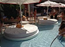 If You Want To Stay Cool All Day Encore Beach Club Lily Pads Are The Way Go They Located In 8 Inches Of Water And Surround Entire Pool So