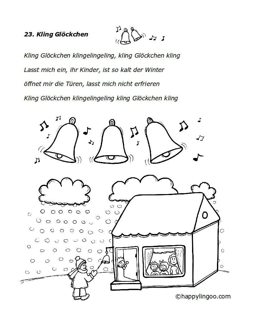Kling Glöckchen | Arbeitsmaterial Krippe | Pinterest | Lieder ...