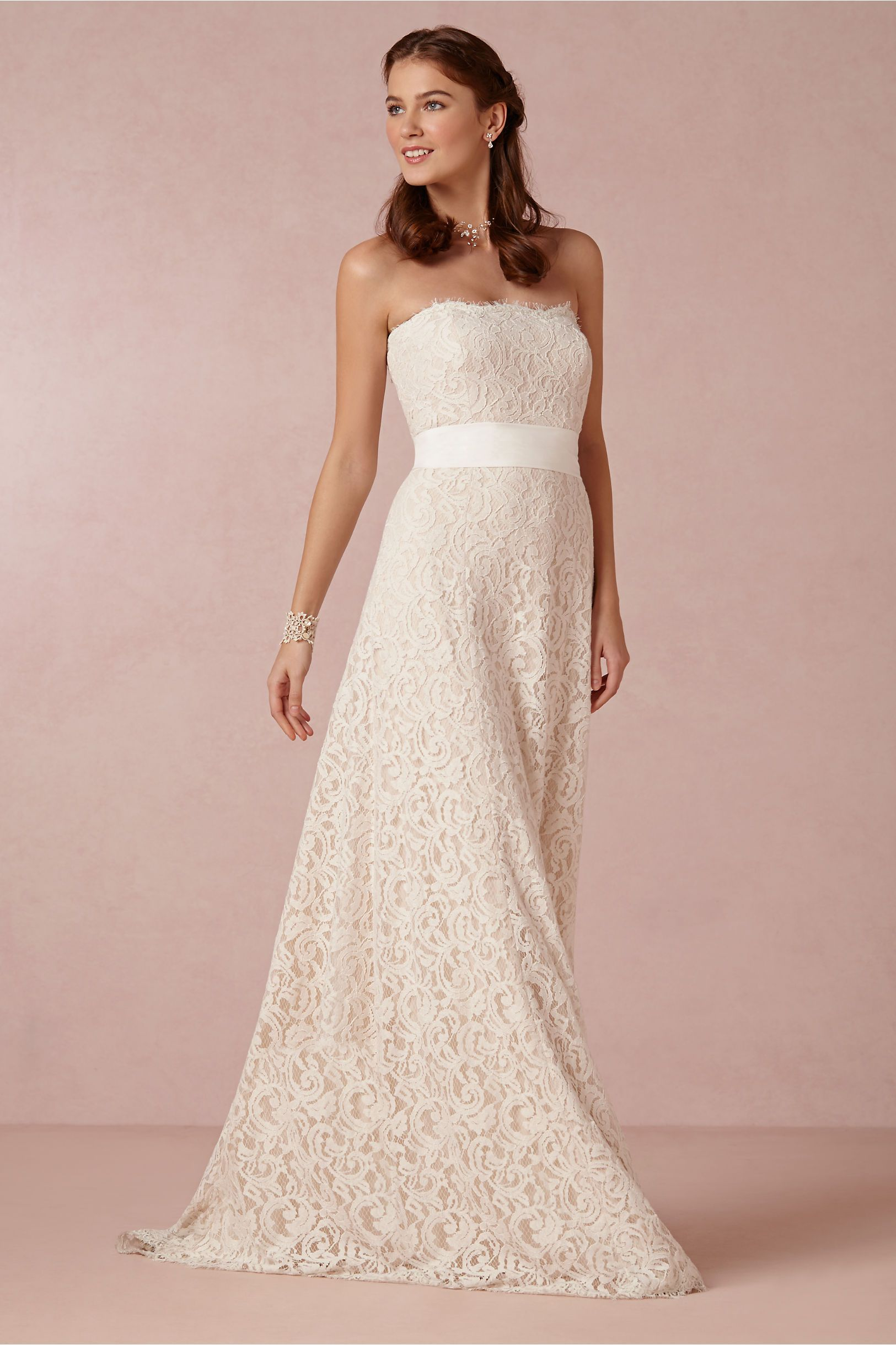 Lovely All Lace Wedding Dress By Bhldn Under 500