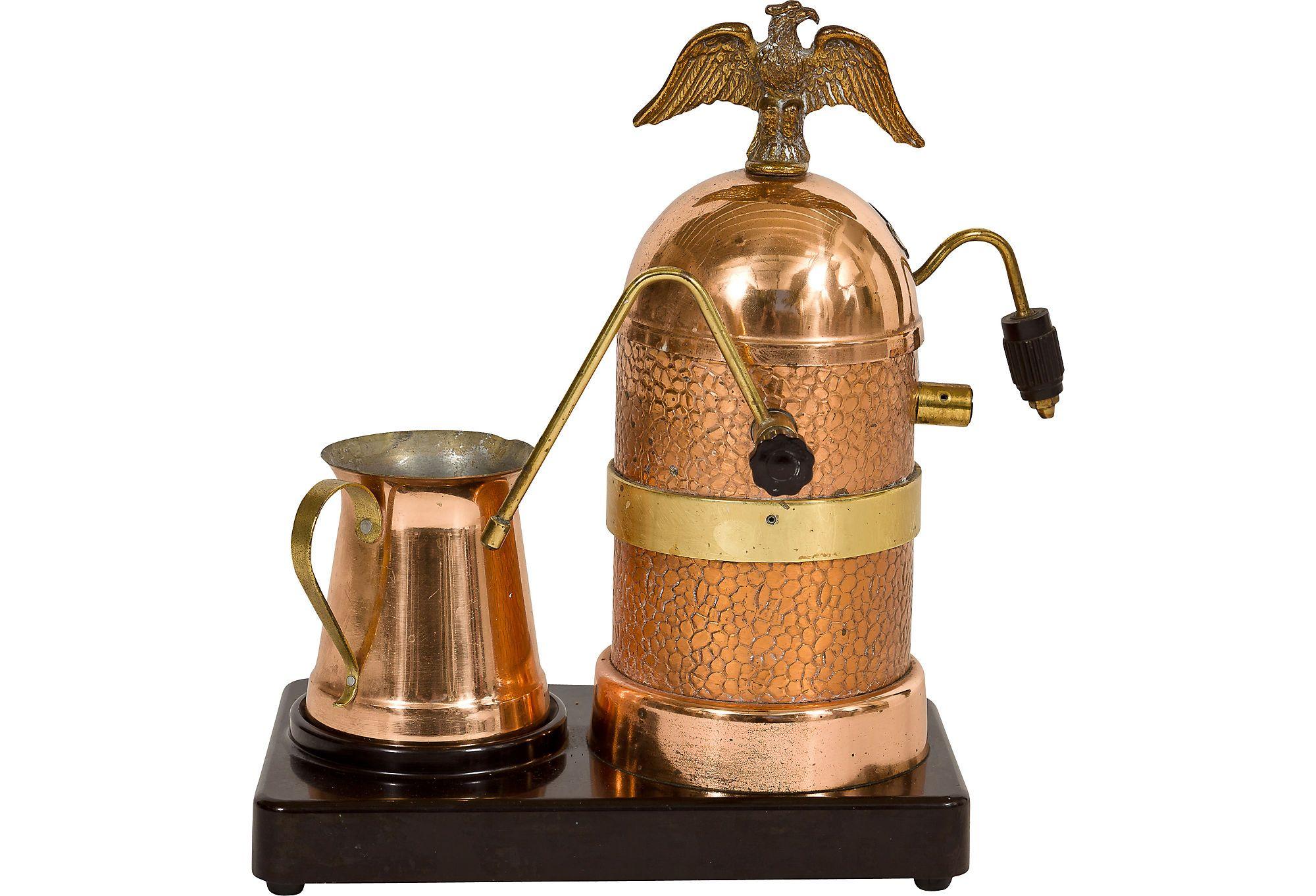 Copper Vesuvio Espresso Maker okay this is the one that