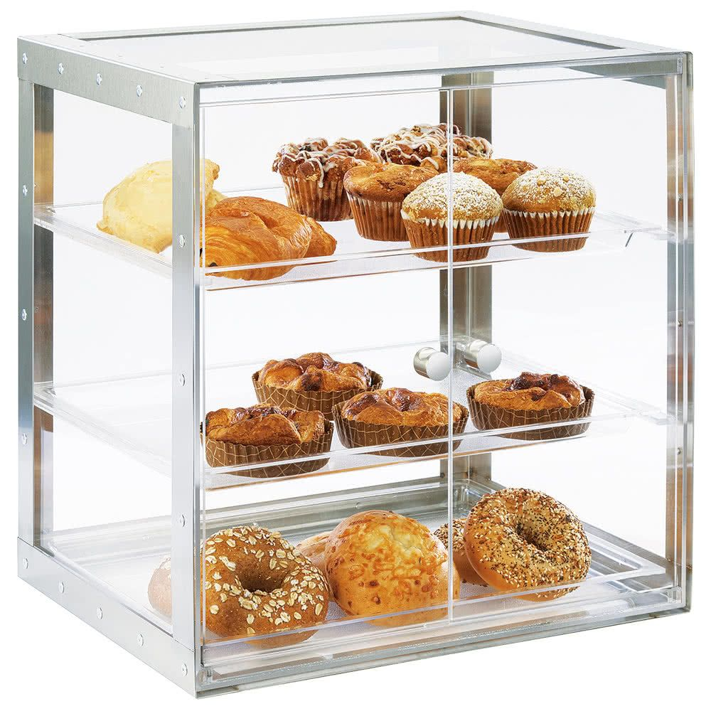 Cal-Mil 3413-55 Urban 3 Tier Stainless Steel Bakery Display Case ...