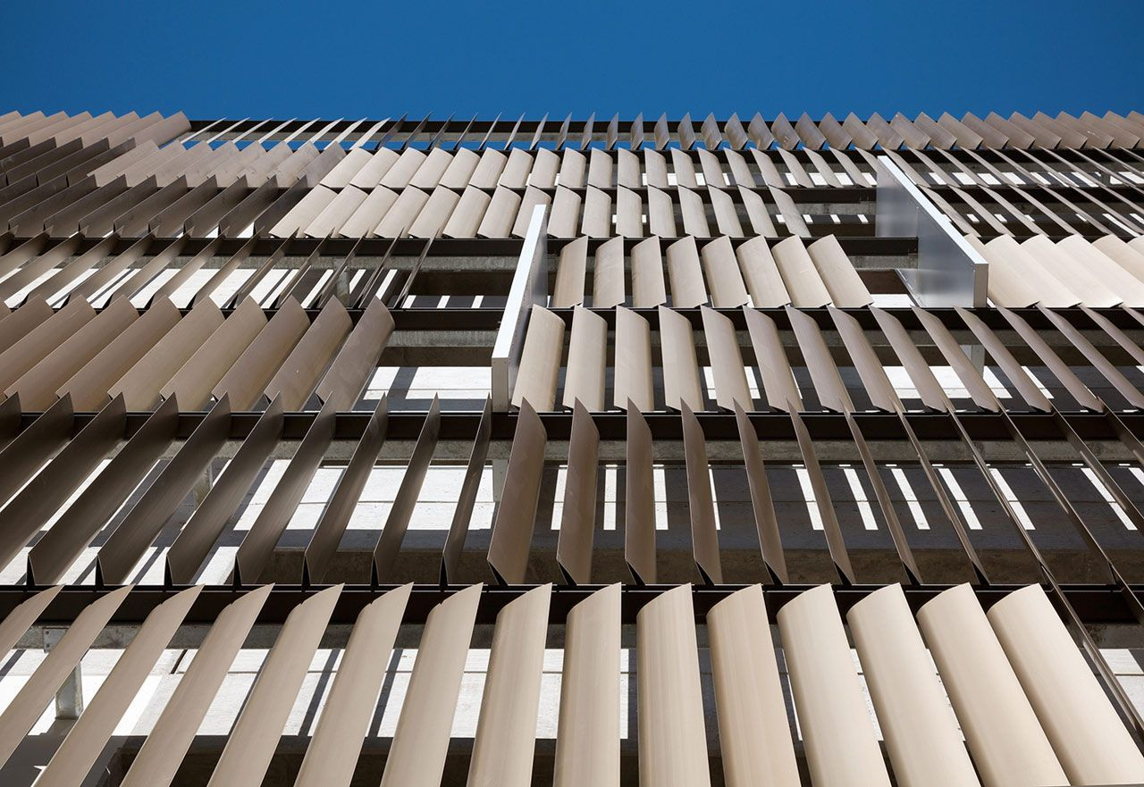 Metal facade cladding aluminium ART WALL Zahner