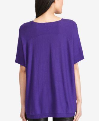 Polo Ralph Lauren Short-Sleeve V-Neck Sweater - Black M