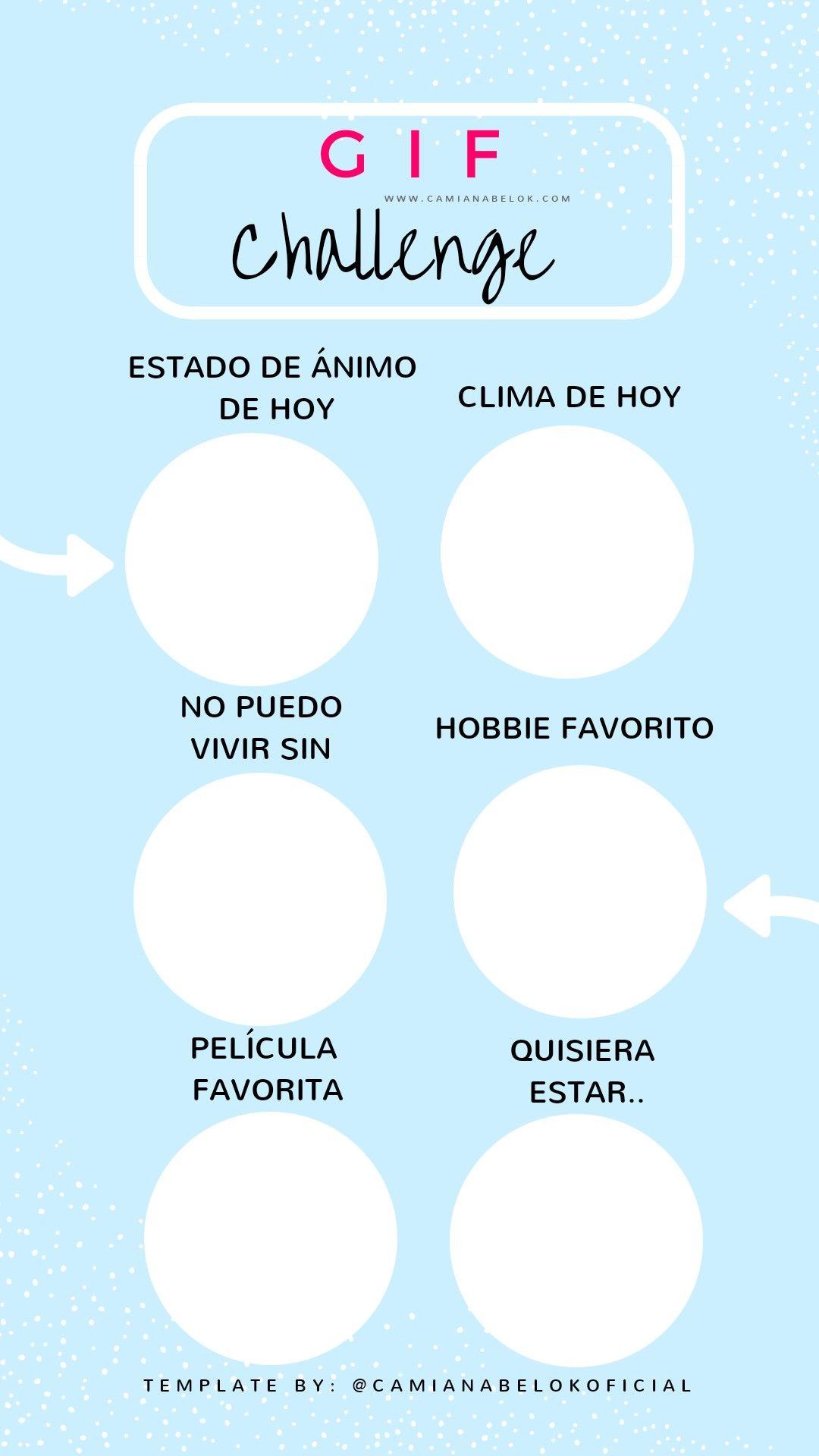Gif Challenge Español Spanish Story Games Instagram Template Stories Historias Retos Para Instagram Juegos Para Instagram Preguntas Para Whatsapp