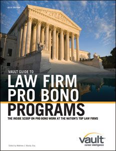 Image result for the vault guide to law firm pro bono programs