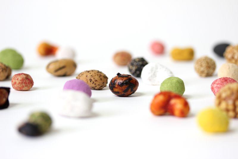 楽豆屋の豆菓子たち www.rakumameya.com #豆菓子 #楽豆屋 #冨士屋製菓本舗 #雀の玉子 #落花生 #カシューナッツ #アーモンド #大豆 #大阪 #富田林