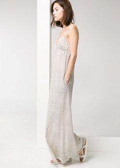 Draped neckline gown - Dresses - Women - MANGO 4010c29f088
