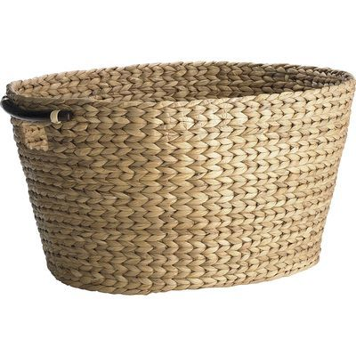 Carson Natural Wicker Oval Laundry Basket Woven Laundry Basket