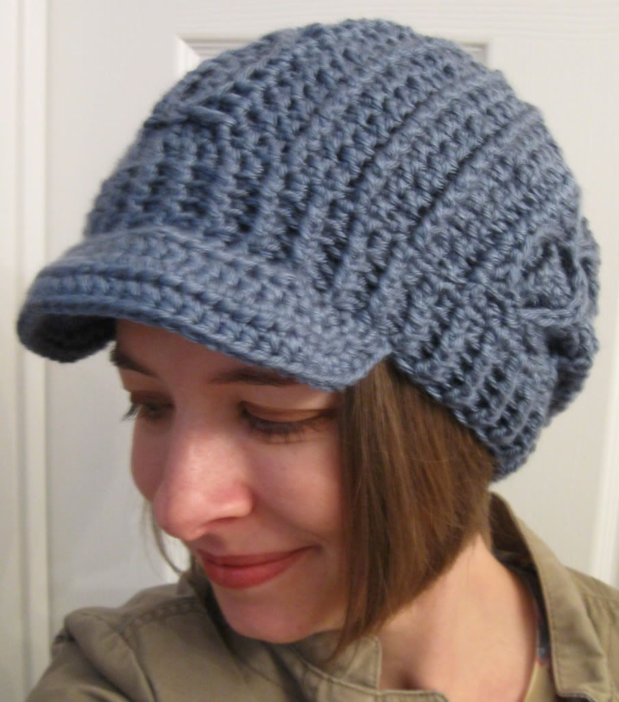 Free crochet pattern: slouchy faux cable hat (with or without brim ...