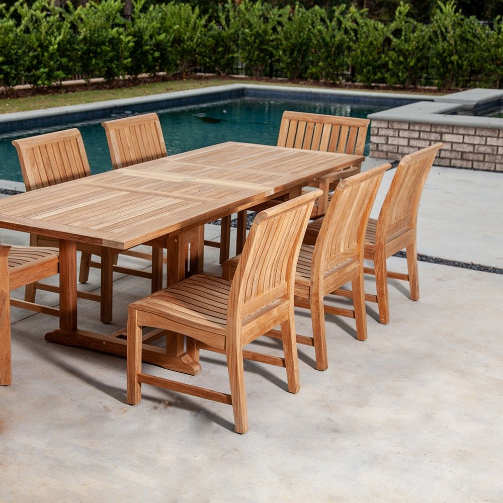 Povl Outdoor Tuevo Dining Side Chair Side Chairs Dining Teak Outdoor Furniture Outdoor Dining