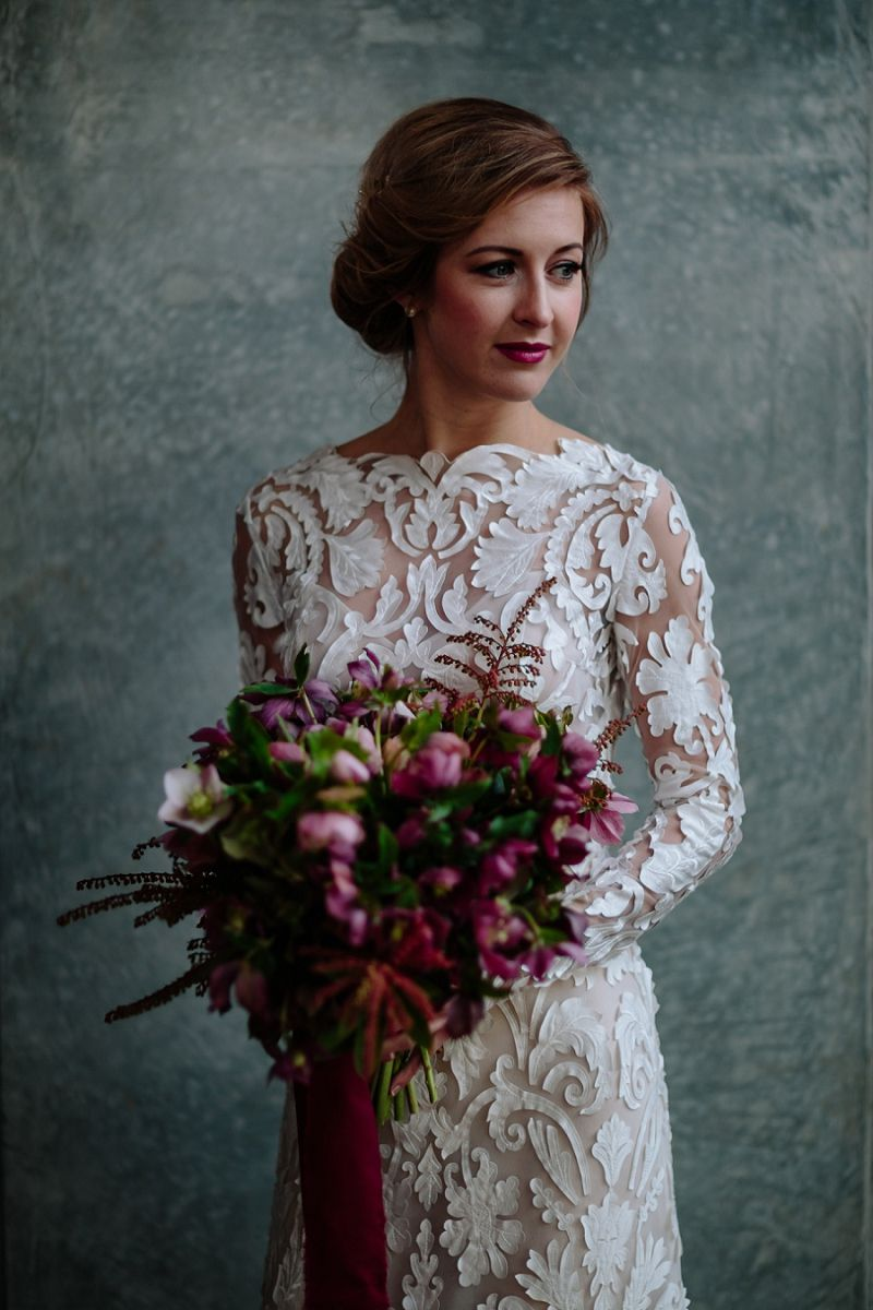 love this lace cut out wedding dress! - unique long sleeved wedding dress