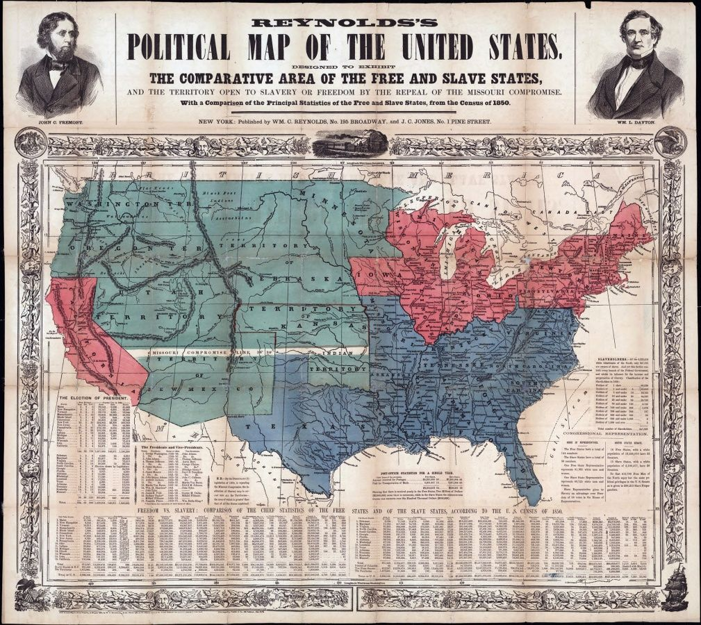 The North And The South Had Grown Further Apart In Terms Of - Missouri compromise interactive map
