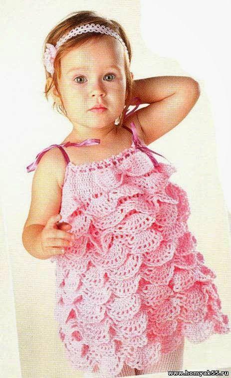 patrón de volantes para vestido ganchillo niña | Crochet | Pinterest ...
