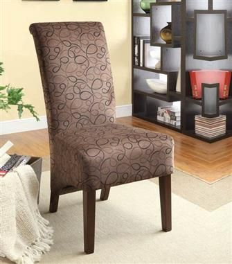 2 Howie Chocolate Texture Wood Accent Chairs