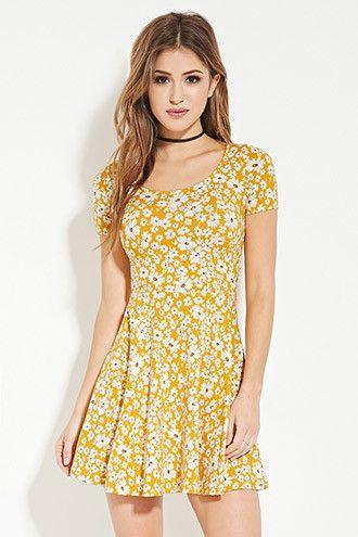 c9d0ddc394 Floral Print Skater Dress