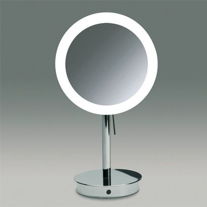 Lovely Free Standing 3x Magnifying LED Mirror with Sensor Ideas - Simple Elegant magnifying makeup mirror Contemporary