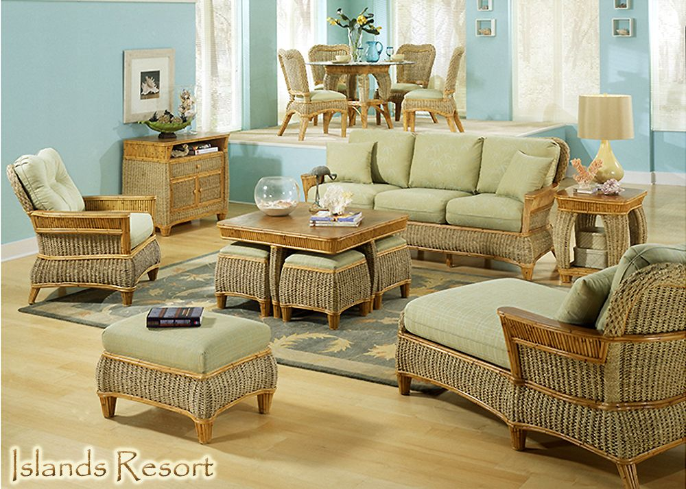 Rattan And Wicker Living Room Furniture Sets Chairs