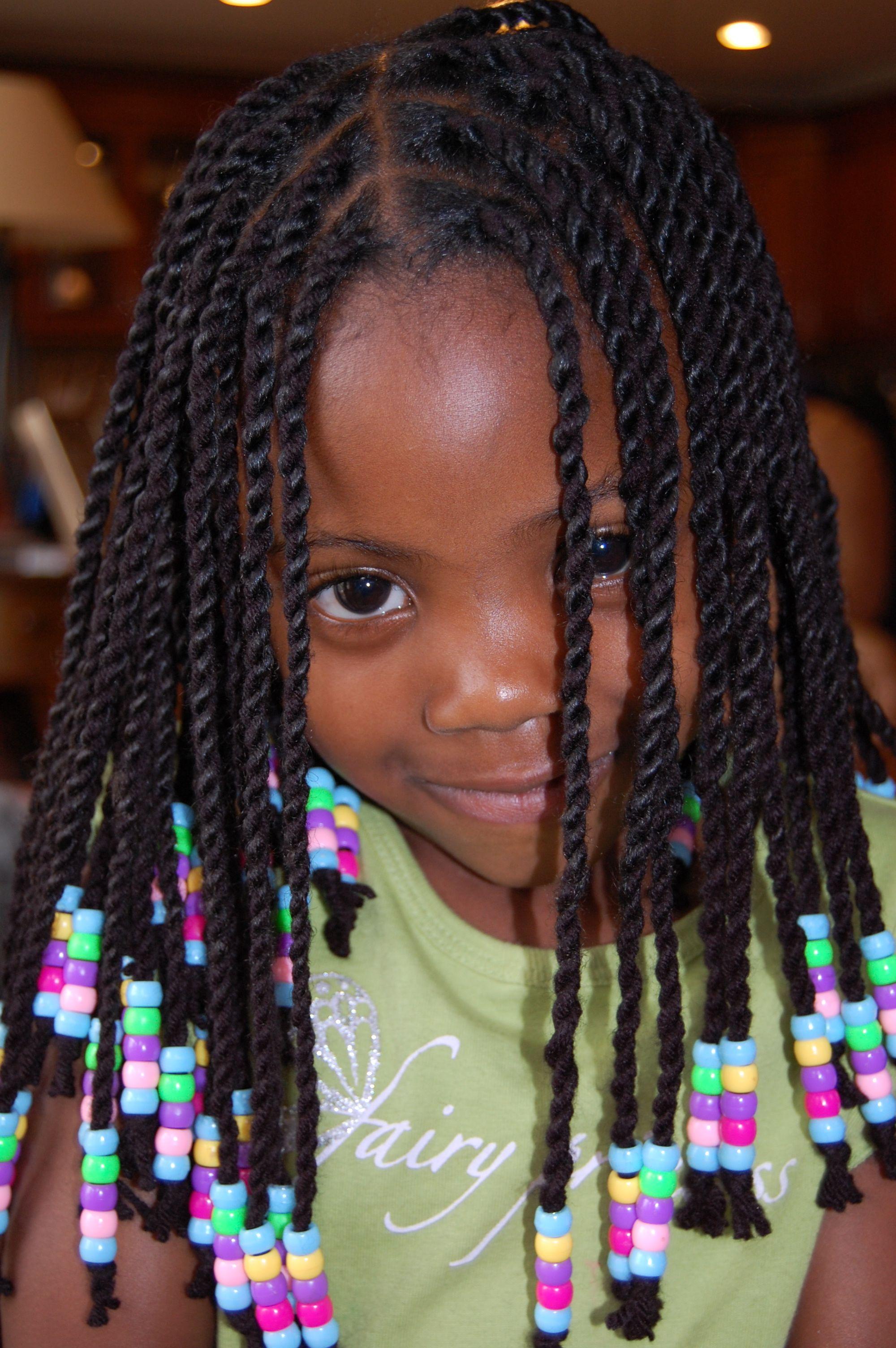 Yarn Twists Protective Hairstyle Little Girl Braids Hair Styles Braids Hairstyles Pictures