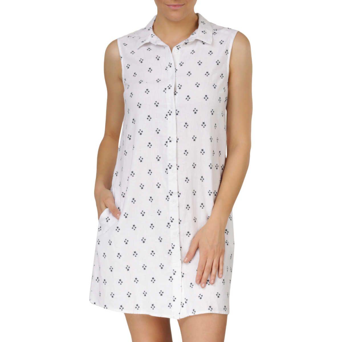 B collection womenus sleeveless linen blend dress white summer