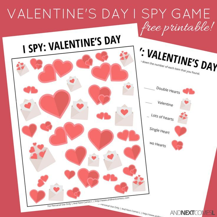 Valentine S Day I Spy Game Free Printable For Kids Spy Games For Kids Valentines Games Valentine Activities