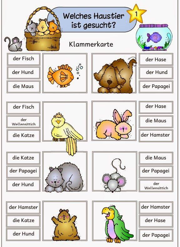 Materialpaket Haustiere Fur Daz Deutsch Lernen Kinder Englisch Lernen Kinder Haustiere