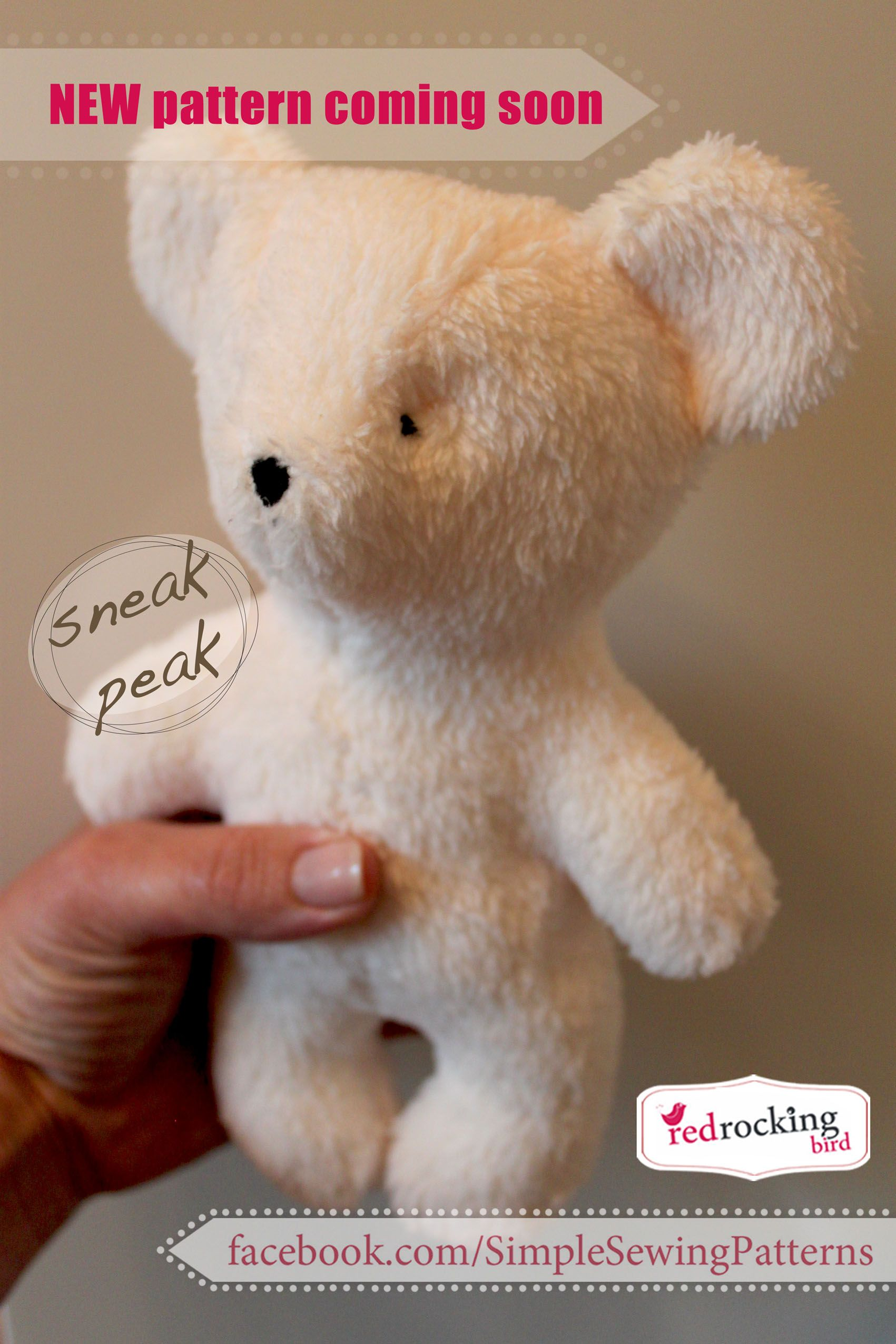 Teddy bear sewing pattern really easy for beginners by red teddy bear sewing pattern really easy for beginners by red rocking bird jeuxipadfo Choice Image